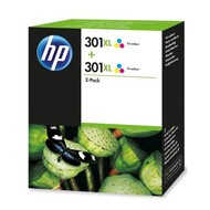 HP 301XL 2-pack Tri-color Origineel Cyaan, Magenta, Geel 2 stuk(s)