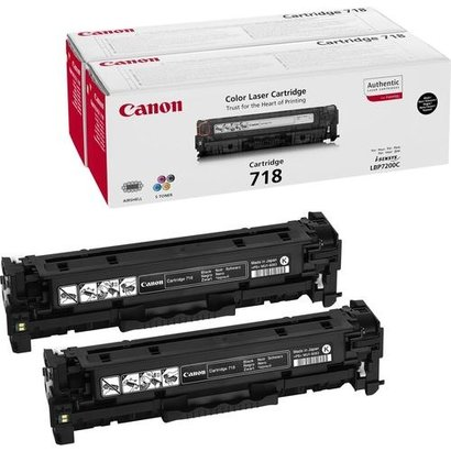 Canon CRG-718 Bk VP Origineel Zwart 2 stuk(s)