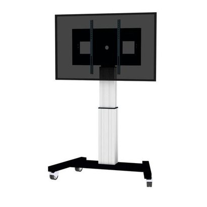 Newstar electrical height adjustable column 500mm height adjustment mobile base with four heavy duty casters two with brakes- mount for use with 42i . 100i VESA 200 x