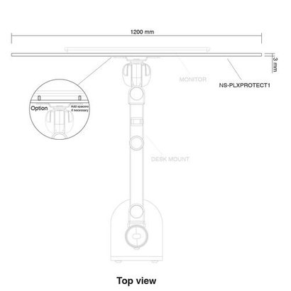 Newstar Transparant veiligheidsscherm voor een beschermde werkplek 120x74