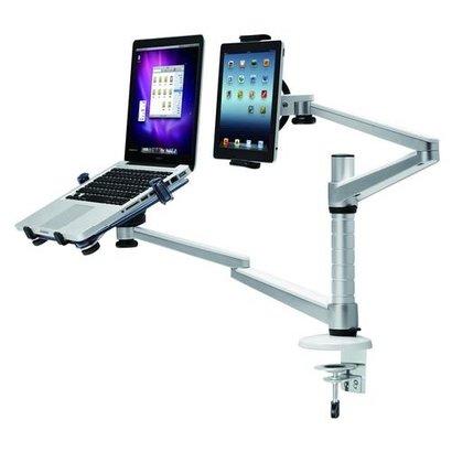Newstar  Swivel Arm for Tablet & Laptop (heigth: 15-40 cm / depth: 0-50 cm) Silver10 kilo