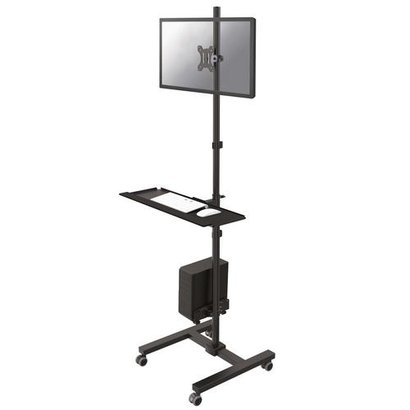 Newstar  Mobile Workplace Floor Stand monitor keyboard/mouse & PC