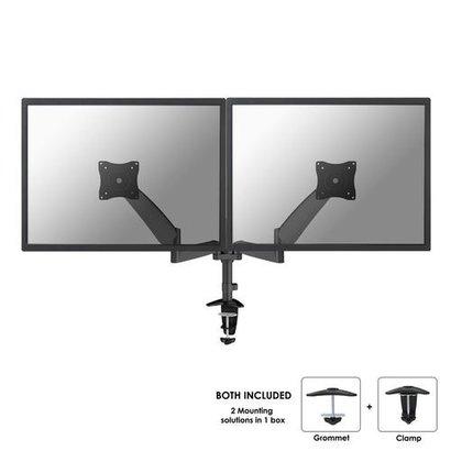 Newstar  Flatscreen Bureausteun (klem)  2 schermen Zwart 10-27i