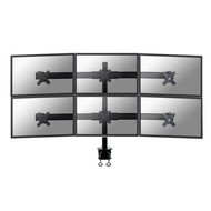 Newstar Flatscreen Desk Mount (clamp) 6 screensBlack 10-27i