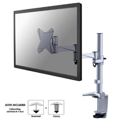 Newstar  Flatscreen Bureausteun Silver (klem)