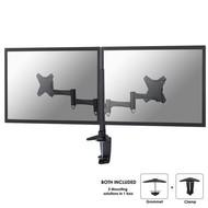 Newstar Flatscreen Bureausteun (bureauklem & bladdoorvoer ) 2 schermen