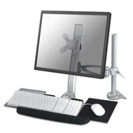 Newstar Flatscreen keyboard & mouse Desk Mount (clamp) Silver 10-24i