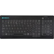 Purekeys Black Medical keyboard 104 keys, Fixed Angle, IP66, USB