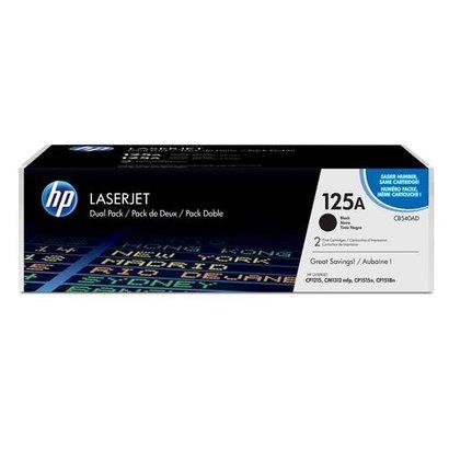 HP 125A Origineel Zwart 2 stuk(s)