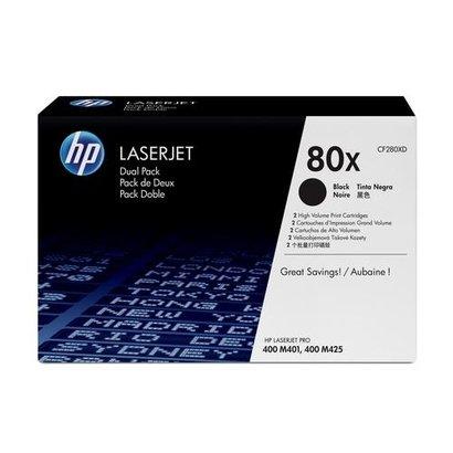 HP 80X Origineel Zwart 2 stuk(s)
