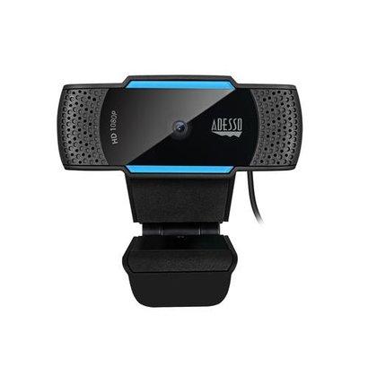 Adesso Adesso CyberTrack H5 webcam 2,1 MP 1920 x 1080 Pixels USB 2.0 Zwart, Blauw