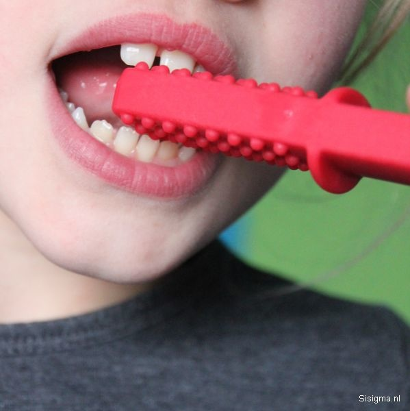 Sensory University Chew Stixx Tough Bar | For extreme biting (Red)
