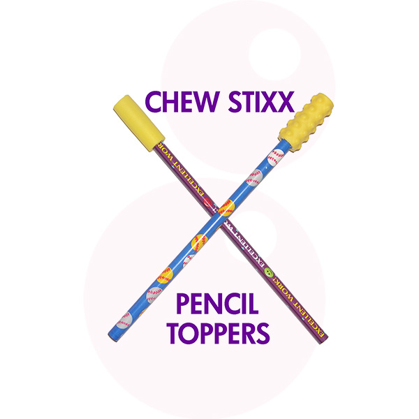 Sensory University Chew Stixx Penciltoppers (Yellow)