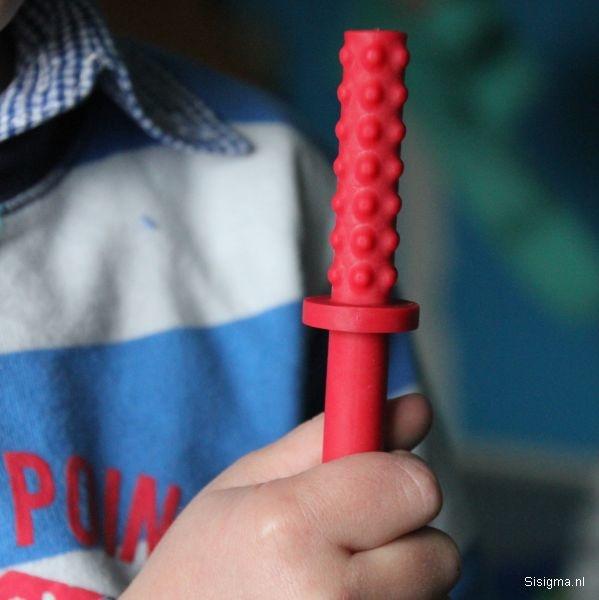 Sensory University Chew Stixx Junior | Pocket Stixx Oral Sensory Tubes (Red)