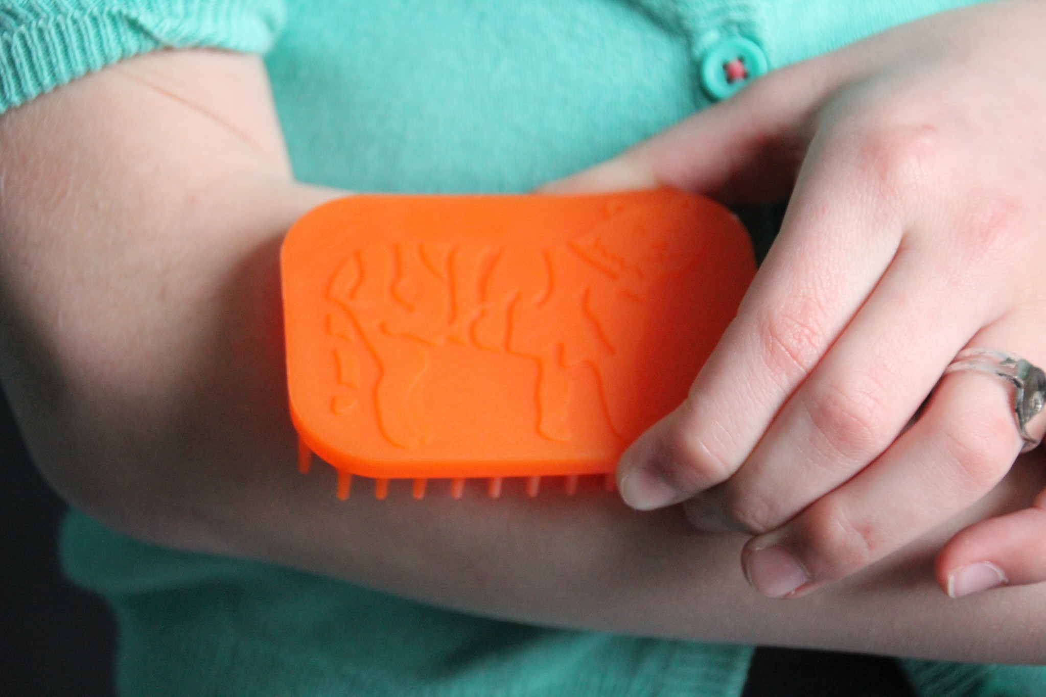Sensory University Tactile Tiger Hand Fidget / Sensory Brush (Orange)