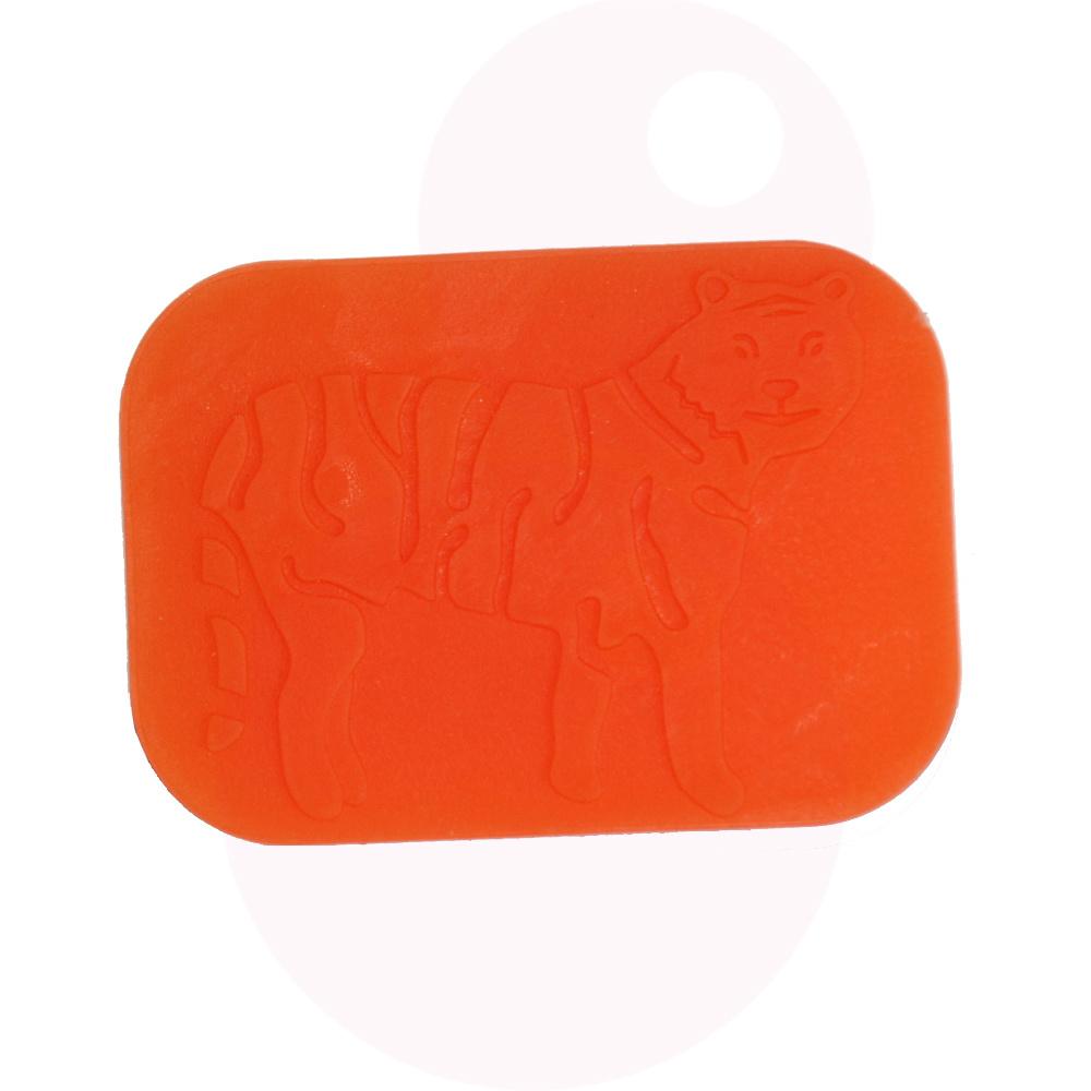 Sensory University Tactile Tiger Hand Fidget / Sensory Brush (Orange)