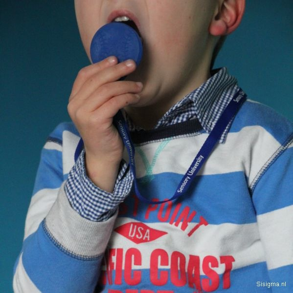 Sensory University Chewy Charms Necklace (Blue Baseball)