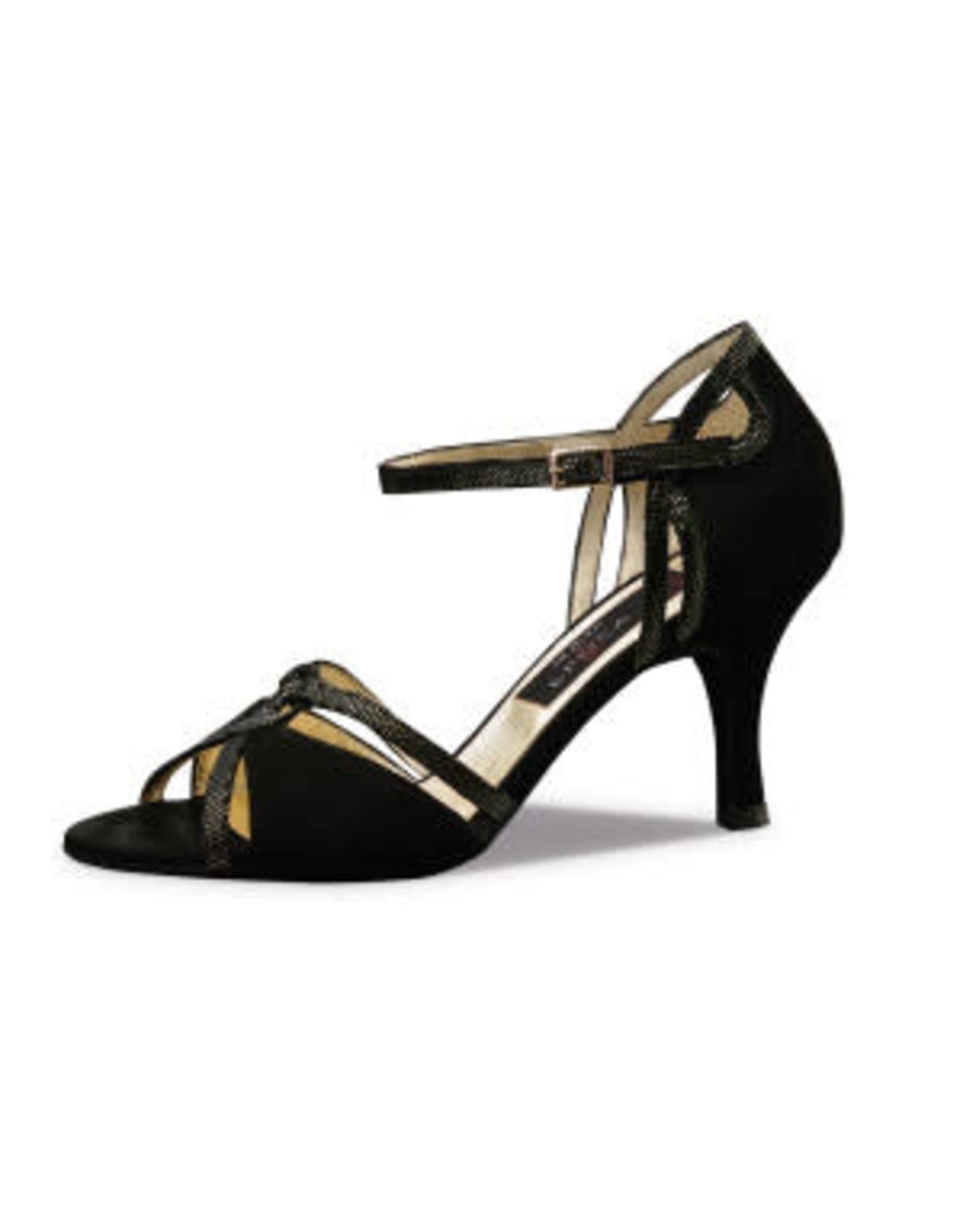 Nueva Epoca Christina 7cm Suede/Ariel Black