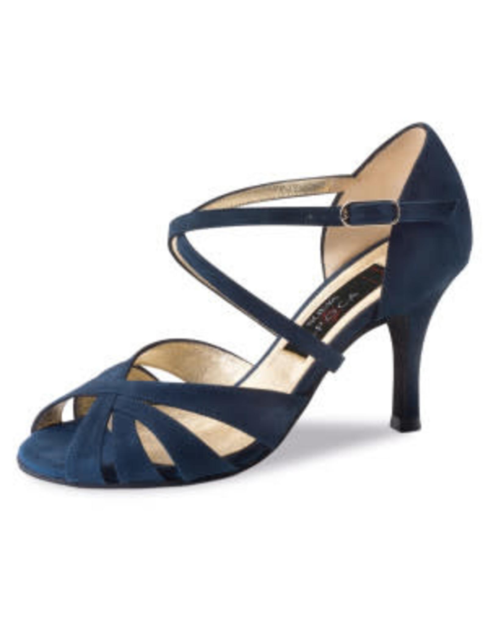Nueva Epoca Gracia 7cm Suede Blue