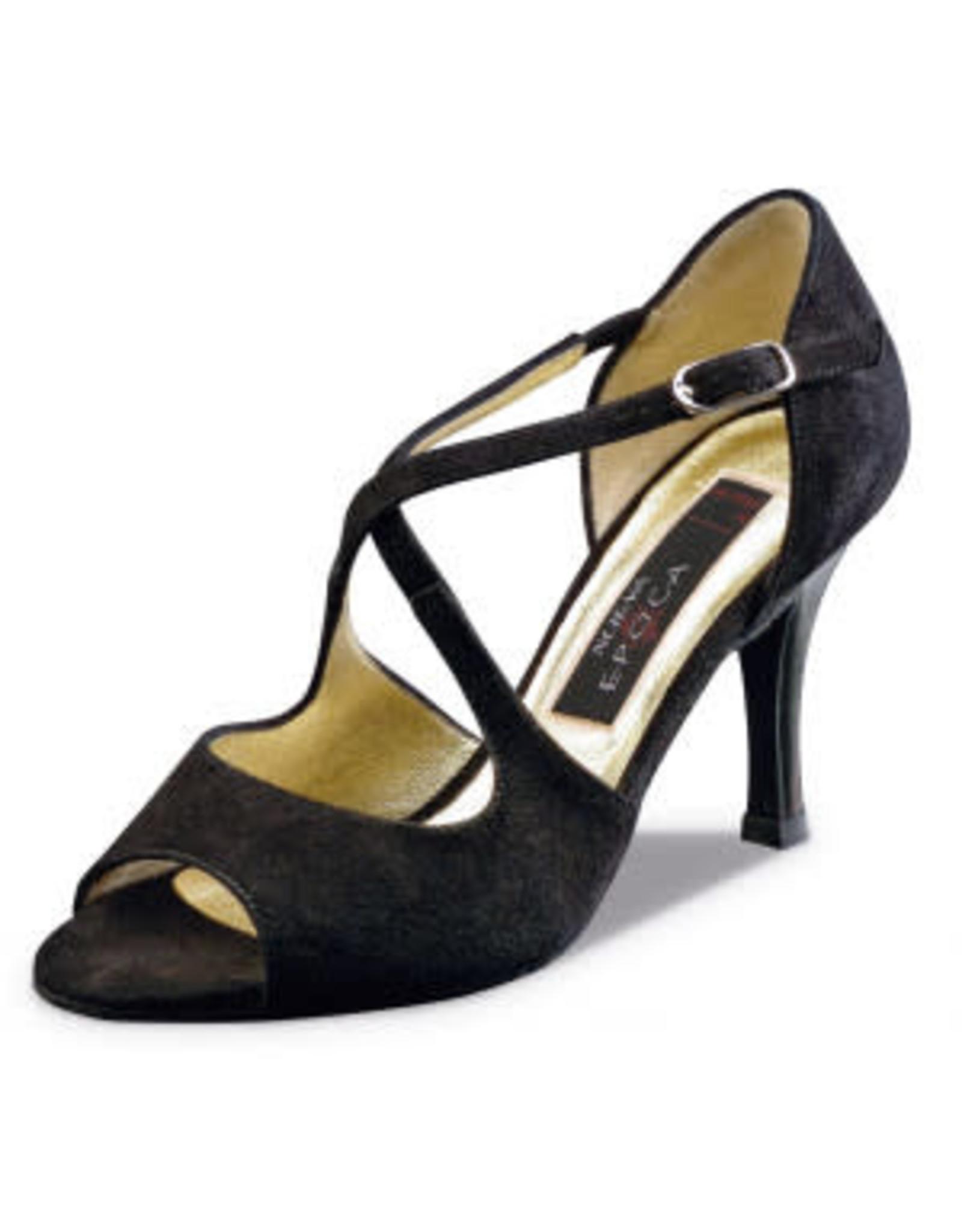 Nueva Epoca Martha 8cm Suede Black