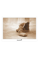 DanzArte Postcard Pointe Shoes Sepia