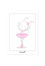 DanzArte Postcard Dancing Bunny on Pointe
