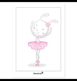DanzArte Postcard Dancing Bunny on Pointe