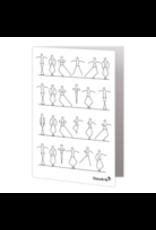 DanzArte Greeting card Stick Figures Dancing
