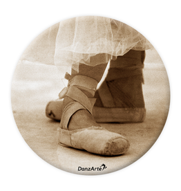 DanzArte Pocket Mirror Pointe Shoes Sepia