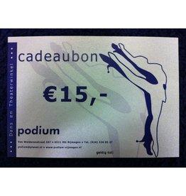 Cadeaubon Podium