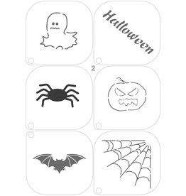 Grimas MAKE-UP TEMPLATE 2 Halloween A5 (14,8 x 21cm)