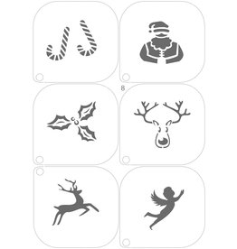 Grimas MAKE-UP TEMPLATE 8 A5 (14,8 x 21cm)