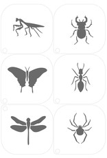 Grimas MAKE-UP TEMPLATE 16 Insecten A5 (14,8 x 21cm)