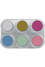 Grimas WATER MAKE-UP PEARL PURE PALETTE P6 Palet 6