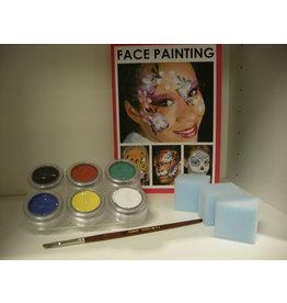 Grimas Schmink pakket 6 kleuren waterbasis