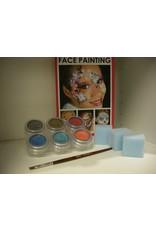 Grimas Schmink pakket 6 kleuren pearl waterbasis