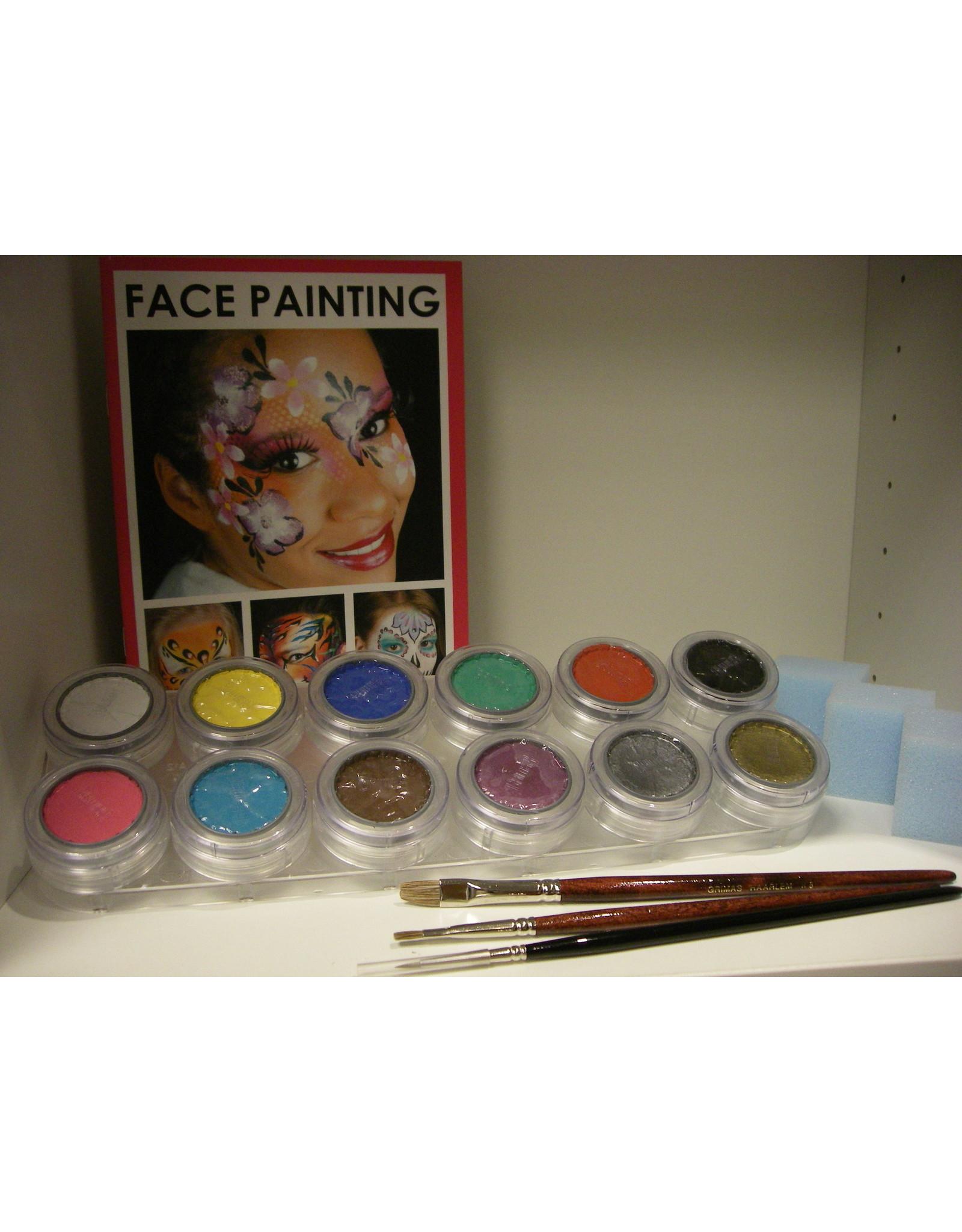 Grimas Schmink pakket 12 kleuren  A waterbasis
