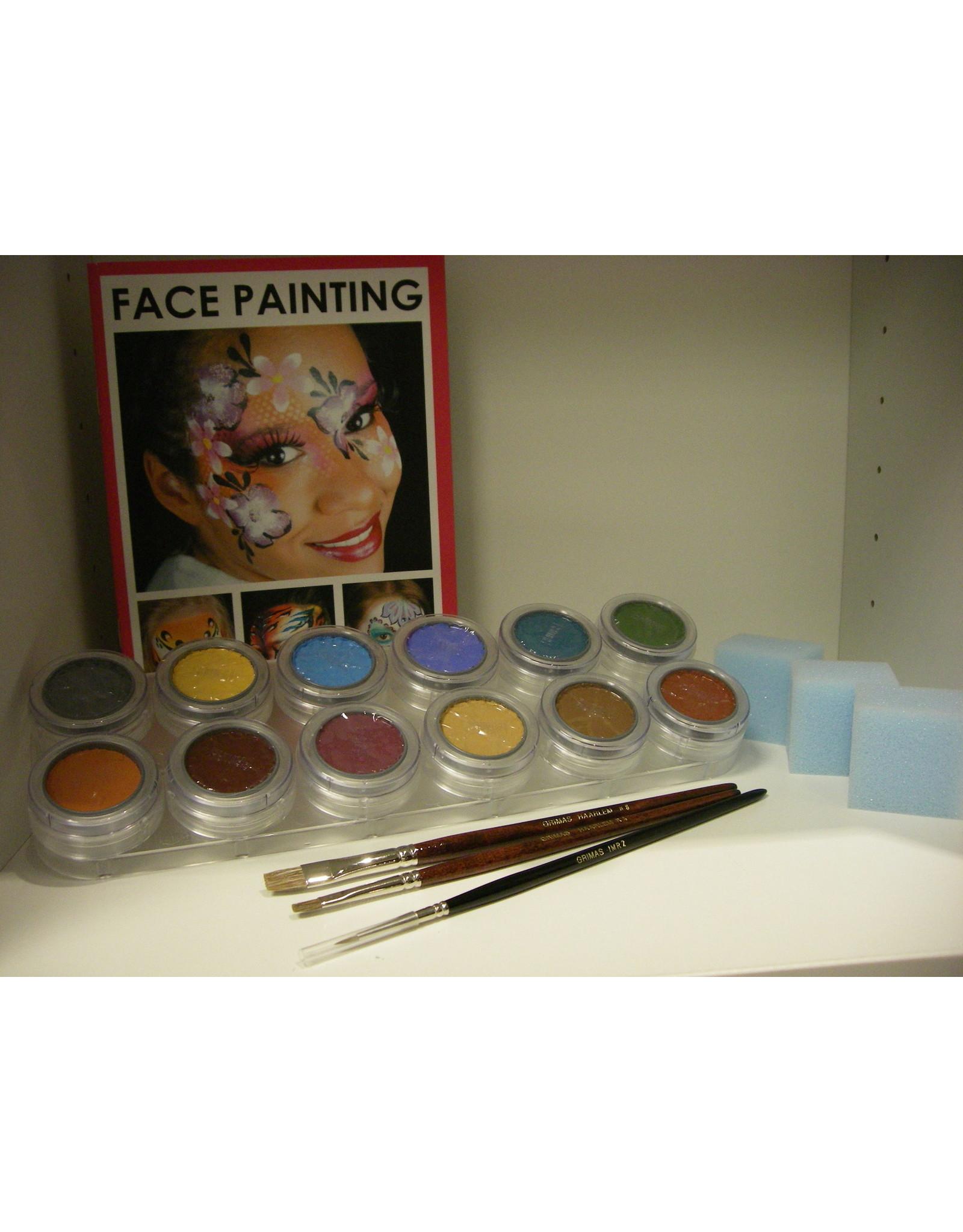 Grimas Schmink pakket 12 kleuren B waterbasis