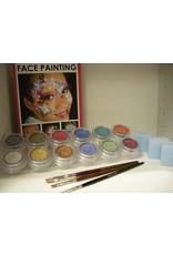 Grimas Schmink pakket 12 kleuren pearl waterbasis