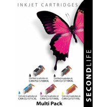 Canon 570BK 571BK C M Y XL inkt Cartridge Incl. Chip Set huismerk