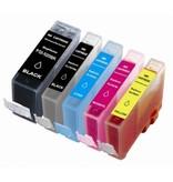 Huismerk Canon 520 BK 521 BK C M Y XL inkt Cartridge Incl. Chip set huismerk
