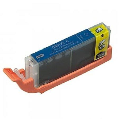 Huismerk Canon 551C inkt Cartridge  Incl Chip huismerk
