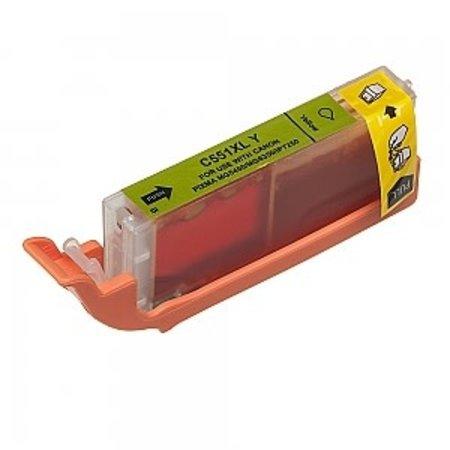 Huismerk Canon 551Y inkt Cartridge  Incl Chip huismerk