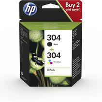 304 Origineel Black + Color inkt Cartridge 2 Pack