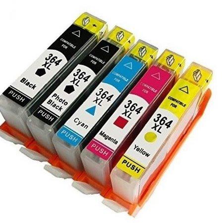 Huismerk HP 364 BK C M Y XL set inkt Cartridge