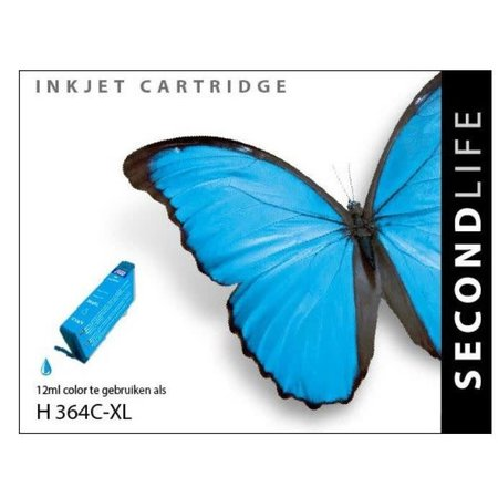 Huismerk HP 364 Cyan inkt Cartridge