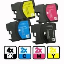 Brother 4x1100BK 980BK + 2x 1100 / 980 C M Y XL Inkt Cartridge megapack