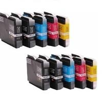 Brother 4x 985 BK + 2x 985 C M Y - XL inkt Cartridge Incl. Chip megapack