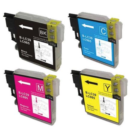 Huismerk Brother 985 BK C M Y XL inkt Cartridge Incl. Chip set