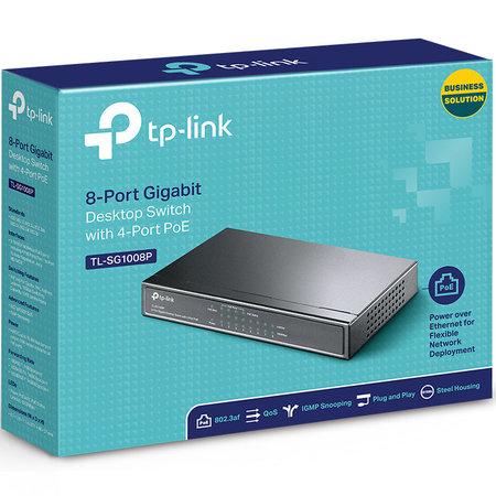 TP-Link TL-SG1008P 8 poorts PoE 10/100/1000Mbps Gigabit Switch